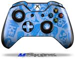 Skull Sketches Blue - Decal Style Skin fits Microsoft XBOX One Wireless Controller