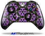Floral Pattern Purple - Decal Style Skin fits Microsoft XBOX One Wireless Controller