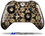 Decal Skin Wrap fits Microsoft XBOX One Wireless Controller Leave Pattern 1 Brown