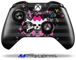Pink Bow Skull - Decal Style Skin fits Microsoft XBOX One Wireless Controller