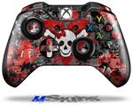 Decal Skin Wrap fits Microsoft XBOX One Wireless Controller Emo Skull Bones