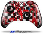 Checkerboard Splatter - Decal Style Skin fits Microsoft XBOX One Wireless Controller
