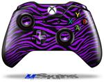 Decal Skin Wrap fits Microsoft XBOX One Wireless Controller Purple Zebra