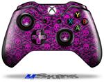 Pink Skull Bones - Decal Style Skin fits Microsoft XBOX One Wireless Controller