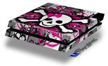 Splatter Girly Skull - Decal Style Skin fits original PS4 Gaming Console