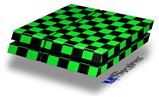 Checkers Green - Decal Style Skin fits original PS4 Gaming Console