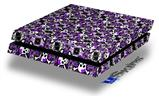 Splatter Girly Skull Purple - Decal Style Skin fits original PS4 Gaming Console