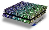 Splatter Girly Skull Rainbow - Decal Style Skin fits original PS4 Gaming Console