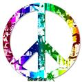 Rainbow Graffiti - Peace Sign Car Window Decal 6 x 6 inches