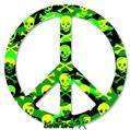 Skull Camouflage - Peace Sign Car Window Decal 6 x 6 inches