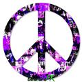 Purple Graffiti - Peace Sign Car Window Decal 6 x 6 inches