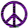 Purple Zebra - Peace Sign Car Window Decal 6 x 6 inches