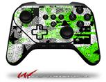 Checker Skull Splatter Green - Decal Style Skin fits original Amazon Fire TV Gaming Controller