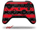 Skull Stripes Red - Decal Style Skin fits original Amazon Fire TV Gaming Controller