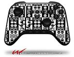Skull And Crossbones Pattern Bw - Decal Style Skin fits original Amazon Fire TV Gaming Controller