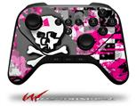 Girly Pink Bow Skull - Decal Style Skin fits original Amazon Fire TV Gaming Controller