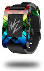 Rainbow Plaid - Decal Style Skin fits original Pebble Smart Watch (WATCH SOLD SEPARATELY)