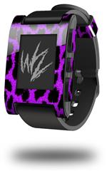 Purple Leopard - Decal Style Skin fits original Pebble Smart Watch (WATCH SOLD SEPARATELY)