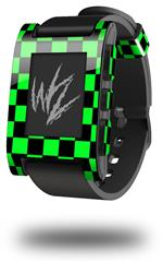 Checkers Green - Decal Style Skin fits original Pebble Smart Watch (WATCH SOLD SEPARATELY)