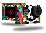 Rainbow Plaid Skull - Decal Style Skin fits GoPro Hero 4 Silver Camera (GOPRO SOLD SEPARATELY)
