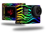 Rainbow Zebra - Decal Style Skin fits GoPro Hero 4 Silver Camera (GOPRO SOLD SEPARATELY)
