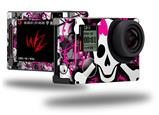 Splatter Girly Skull - Decal Style Skin fits GoPro Hero 4 Silver Camera (GOPRO SOLD SEPARATELY)