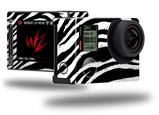 Zebra - Decal Style Skin fits GoPro Hero 4 Silver Camera (GOPRO SOLD SEPARATELY)