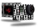Skull Checkerboard - Decal Style Skin fits GoPro Hero 4 Silver Camera (GOPRO SOLD SEPARATELY)