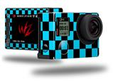 Checkers Blue - Decal Style Skin fits GoPro Hero 4 Silver Camera (GOPRO SOLD SEPARATELY)