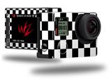 Checkers White - Decal Style Skin fits GoPro Hero 4 Silver Camera (GOPRO SOLD SEPARATELY)