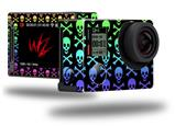Skull and Crossbones Rainbow - Decal Style Skin fits GoPro Hero 4 Silver Camera (GOPRO SOLD SEPARATELY)