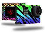 Tiger Rainbow - Decal Style Skin fits GoPro Hero 4 Silver Camera (GOPRO SOLD SEPARATELY)