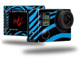 Zebra Blue - Decal Style Skin fits GoPro Hero 4 Silver Camera (GOPRO SOLD SEPARATELY)