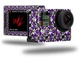 Splatter Girly Skull Purple - Decal Style Skin fits GoPro Hero 4 Silver Camera (GOPRO SOLD SEPARATELY)