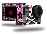 Pink Bow Skull - Decal Style Skin fits GoPro Hero 4 Silver Camera (GOPRO SOLD SEPARATELY)