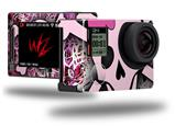 Pink Skull - Decal Style Skin fits GoPro Hero 4 Silver Camera (GOPRO SOLD SEPARATELY)