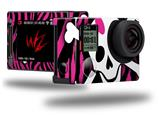 Pink Zebra Skull - Decal Style Skin fits GoPro Hero 4 Silver Camera (GOPRO SOLD SEPARATELY)