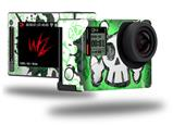 Cartoon Skull Green - Decal Style Skin fits GoPro Hero 4 Silver Camera (GOPRO SOLD SEPARATELY)