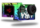 Cartoon Skull Rainbow - Decal Style Skin fits GoPro Hero 4 Silver Camera (GOPRO SOLD SEPARATELY)