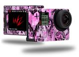 Scene Kid Sketches Pink - Decal Style Skin fits GoPro Hero 4 Silver Camera (GOPRO SOLD SEPARATELY)