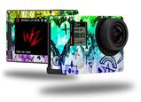 Scene Kid Sketches Rainbow - Decal Style Skin fits GoPro Hero 4 Silver Camera (GOPRO SOLD SEPARATELY)