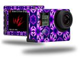 Daisies Purple - Decal Style Skin fits GoPro Hero 4 Silver Camera (GOPRO SOLD SEPARATELY)