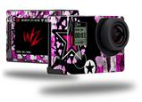 Pink Star Splatter - Decal Style Skin fits GoPro Hero 4 Silver Camera (GOPRO SOLD SEPARATELY)