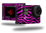 Pink Zebra - Decal Style Skin fits GoPro Hero 4 Silver Camera (GOPRO SOLD SEPARATELY)