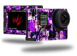 Purple Graffiti - Decal Style Skin fits GoPro Hero 4 Silver Camera (GOPRO SOLD SEPARATELY)