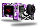 Purple Princess Skull - Decal Style Skin fits GoPro Hero 4 Silver Camera (GOPRO SOLD SEPARATELY)