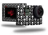 Skull and Crossbones Pattern - Decal Style Skin fits GoPro Hero 4 Silver Camera (GOPRO SOLD SEPARATELY)