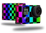 Rainbow Checkerboard - Decal Style Skin fits GoPro Hero 4 Black Camera (GOPRO SOLD SEPARATELY)