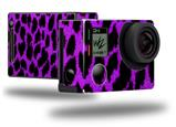 Purple Leopard - Decal Style Skin fits GoPro Hero 4 Black Camera (GOPRO SOLD SEPARATELY)