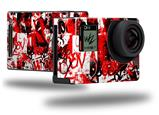 Red Graffiti - Decal Style Skin fits GoPro Hero 4 Black Camera (GOPRO SOLD SEPARATELY)